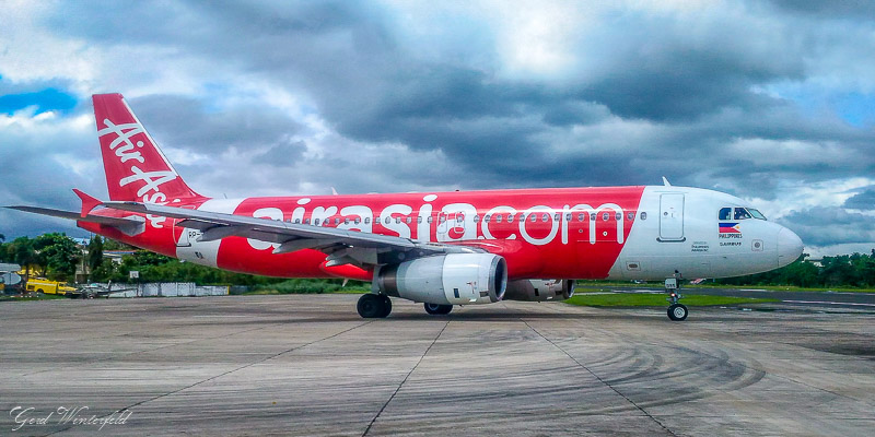Air Asia Philippines A320 at Kalibo Airport