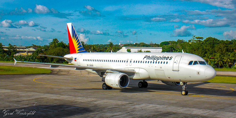 Philippine Airlines A320 am Tagbilaran Airport auf Bohol
